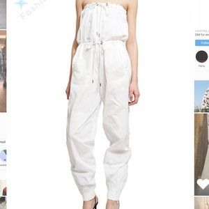 Y project white drawstring jumpsuit